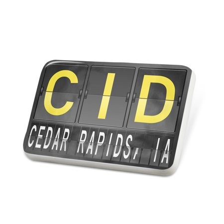 Porcelein Pin CID Airport Code for Cedar Rapids, IA Lapel Badge – - Party City Cedar Rapids Ia