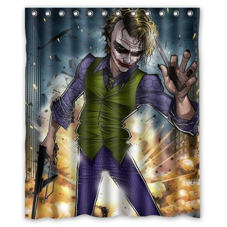 DEYOU Batman Joker Why So Serious Shower Curtain Polyester Fabric Bathroom Size 60x72 Inches