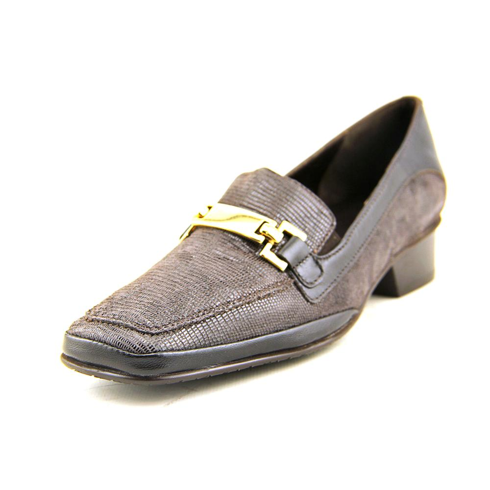 Amalfi By Rangoni Frizzy Square Toe Leather Loafer by Amalfi By Rangoni