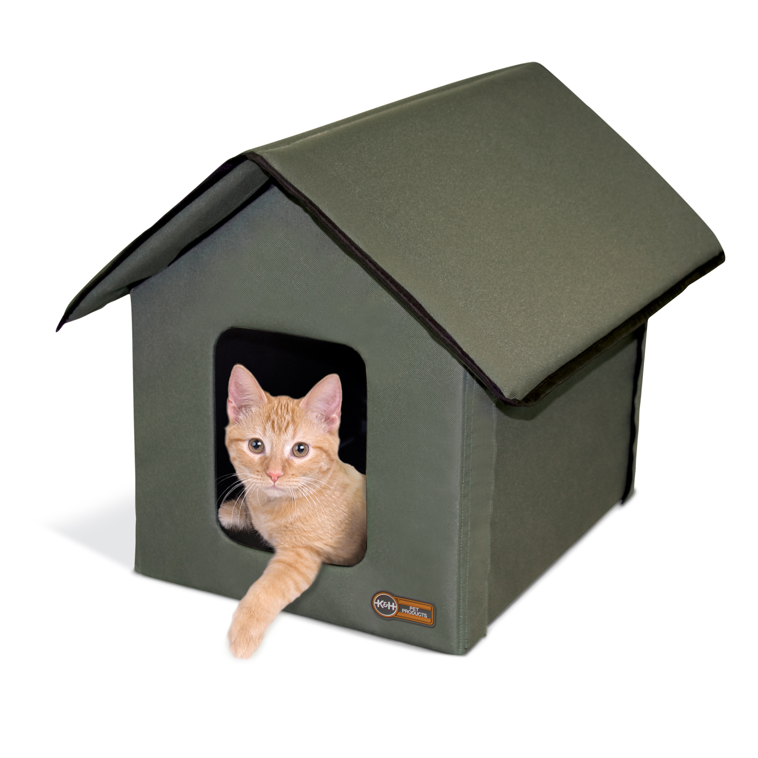 "Outdoor Kitty House (Unheated) Olive 18"" x 22"" x 17"""