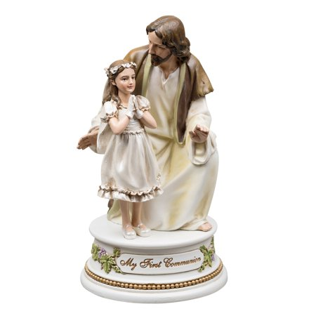 First Communion Girl Figurine (First Communion - Jesus with Girl Musical)