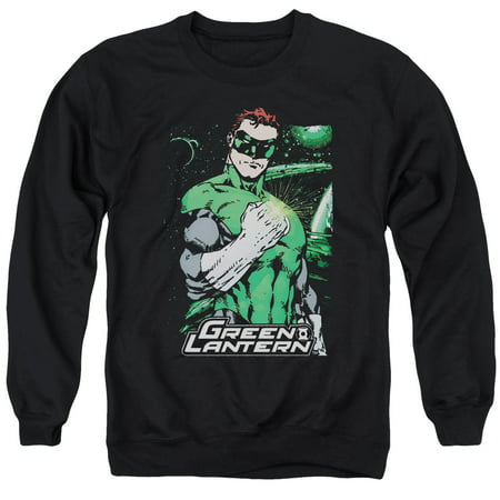 JLA/FIST FLARE - ADULT CREWNECK SWEATSHIRT - BLACK - 3X