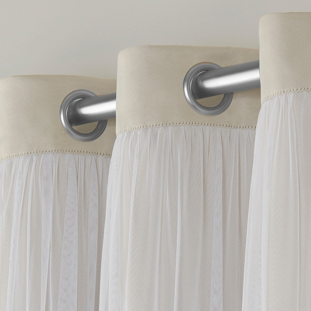 dc4b1578ee4c Exclusive Home Curtains 2 Pack Catarina Layered Solid Blackout and Sheer  Grommet Top Curtain Panels - Walmart.com