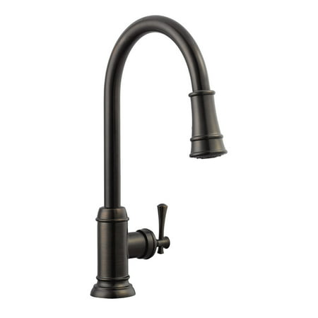 Design House 524728 Ironwood Single-Handle Pull-Out Sprayer Kitchen Faucet,  Brushed Bronze