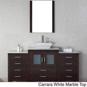 VIRTU USA  Dior 64 inch Single Sink Vanity Set in Espresso