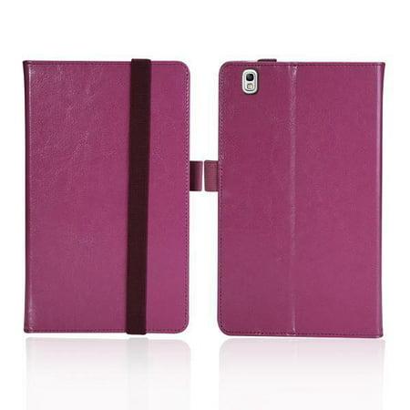 Purple Leather Folio Case For SAMSUNG GALAXY TAB Pro 8.4