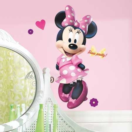 Mickey & Friends Minnie Bowtique Peel & Stick Giant Wall Decal (Baby Mickey Wall Decals)