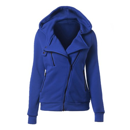 Plus Size Women Zip Up Hooded Coat Long Sleeve Tops Jacket Hoodies Sweatshirt Oversized Warm Loose Hoody Pullover Outerwear