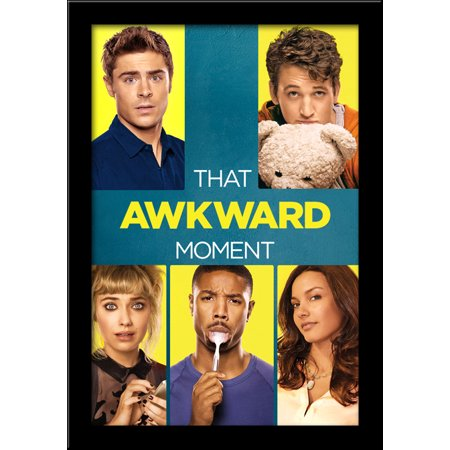 that awkward moment 28x40 large black wood framed print movie poster