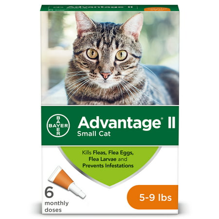 Advantage II Flea Treatment for Small Cats, 6 Monthly Treatments