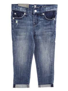 7 for All Mankind Girls The Skinny Crop & Roll Jeans