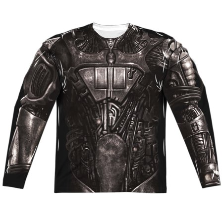 Star Trek Borg Costume (Front/Back Print) Mens Long Sleeve Sublimation - Licensed Lone Star Beer