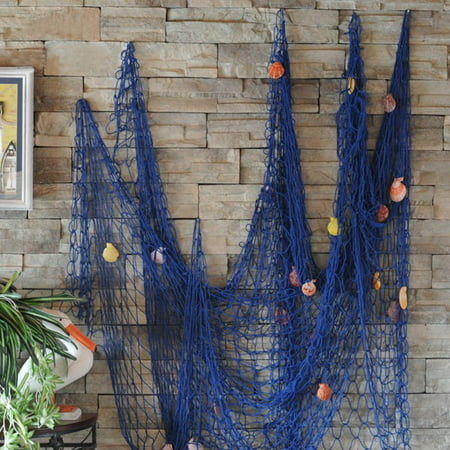 2Mx1M Modern Nautical Decorative Fishing Net Seaside Beach Shell Party Door Wall Decor Home - Beach Theme Decorations For Home