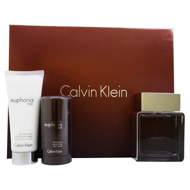 Euphoria by Calvin Klein for Men - 3 Pc Gift Set 3.4oz ED...