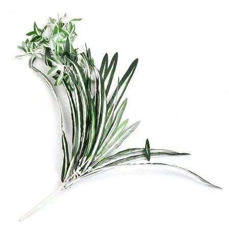 Emulational plante verte petit chlorophytum fleurs artificielles plante verte herbe verte mur aménagement paysager décoration artisanat pour la décoration intérieure - image 4 de 9