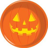 "Halloween Pumpkin 6 1/2"" Dia. x 2"" H Plastic Bowl"