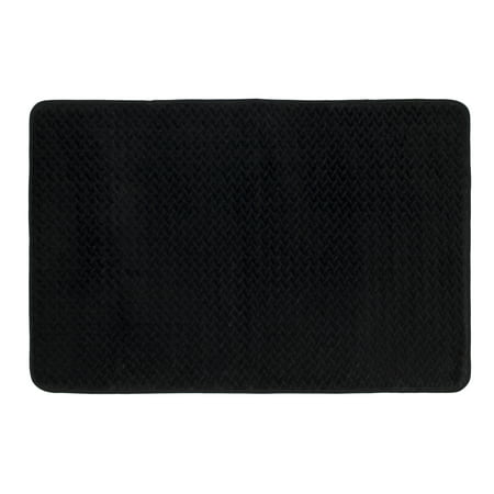 Mohawk Home 18 X 27 Memory Foam Black Bath Rug 1 Each