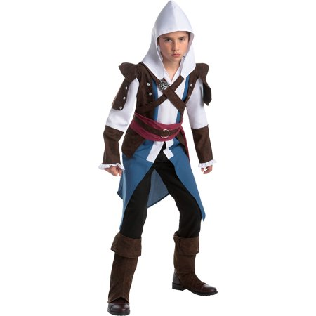 AFG Media Ltd Edward Halloween Costume for Boys, Assassin's Creed, with (Assassin's Creed Edward Kenway Costume)