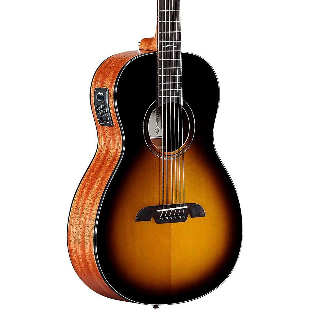Alvarez AP610ETSB Parlor Acoustic-Electric Guitar Sunburst by Alvarez