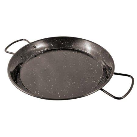 World Cuisine Stainless Steel Paella Pan - Paderno World Cuisine A4982184 Enamel Steel Paella Pan, 15