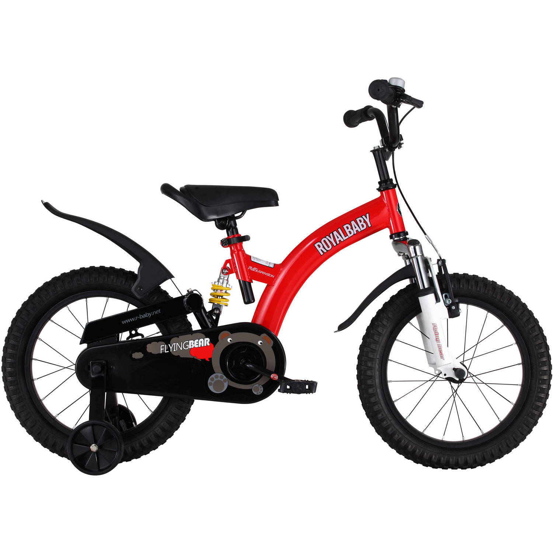 Generic Flying Bear Dual Suspension Kid's Bike, 14 inch wheels, Red