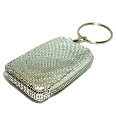 Pearl Pouch - Tsubota Pearl Bling Bangle Pouch, Silver