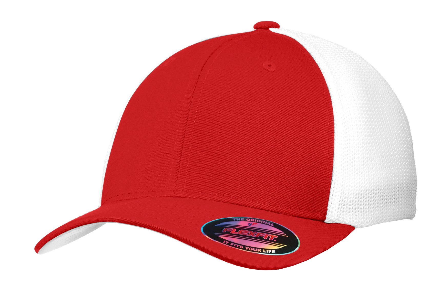 Port Authority® Flexfit® Mesh Back Cap. C812 True Red  White L Xl 7f178fecce6
