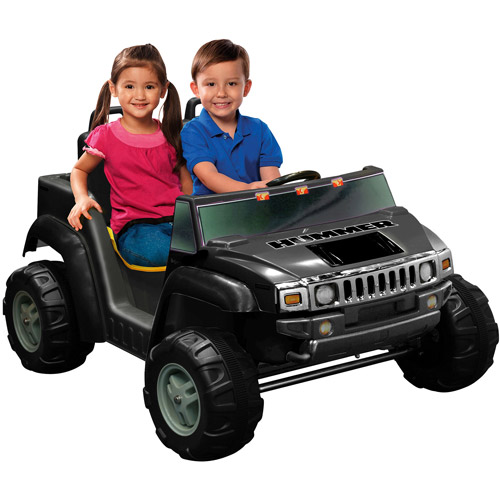 Kid Motorz Two-Seater Hummer H2 Boys' 12-Volt Battery-Powered Ride-On, Black