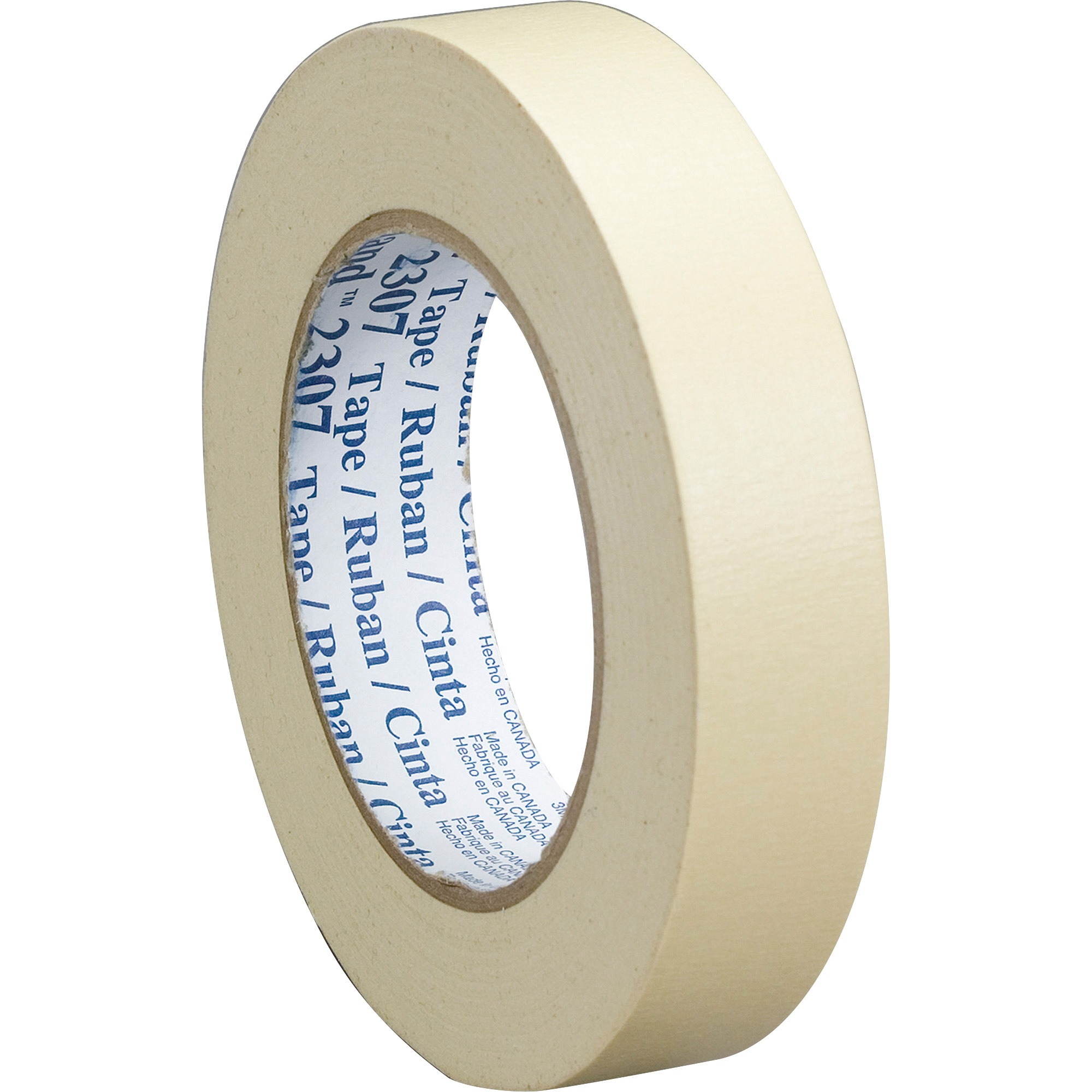 3M 2307 General Purpose Masking Tape Rolls, Tan, 24 / Carton (Quantity)