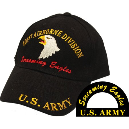 U.S. Army 101st Airborne Screaming Eagles Hat Black Black Screamin Eagle