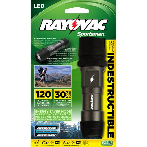Rayovac Outdoor 3AAA Indestructible Flashlight
