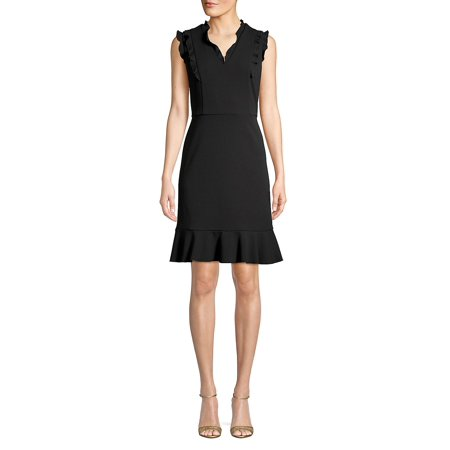 Ruffle-Trimmed Sheath Dress