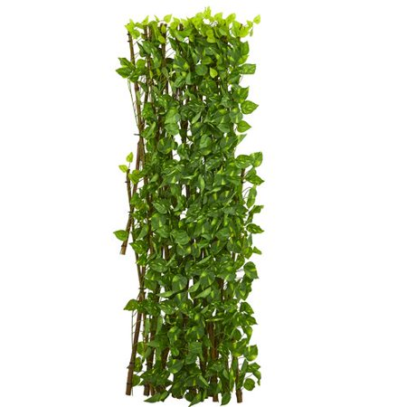 Nearly Natural Pothos Expandable Fence Panel (Expandable Flat Panel)