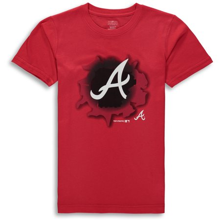 MLB Atlanta Braves TEE Short Sleeve Boys OPP 100% Cotton Alternate Team Colors 4-18