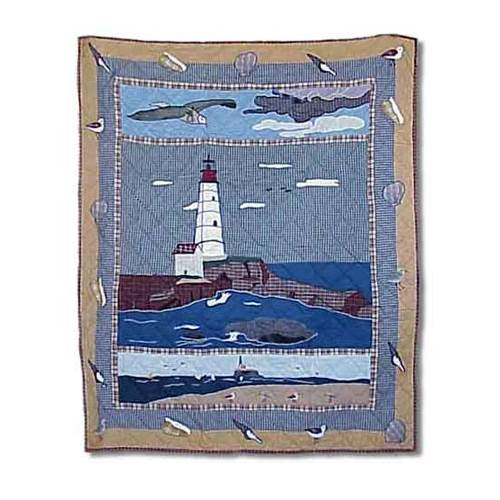 Lighthouse By Bay Throw