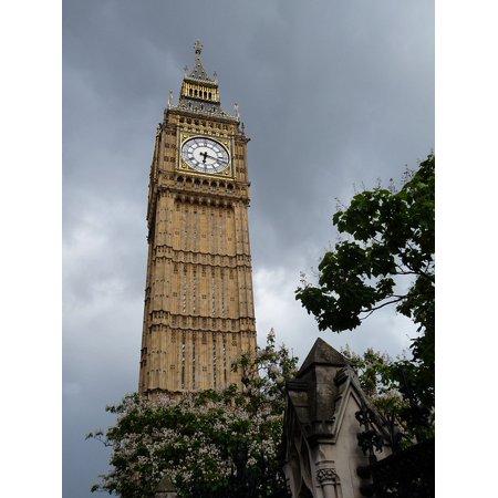 LAMINATED POSTER Tower Clock Tower London England Big Ben Poster Print 24 x 36 - London England Halloween