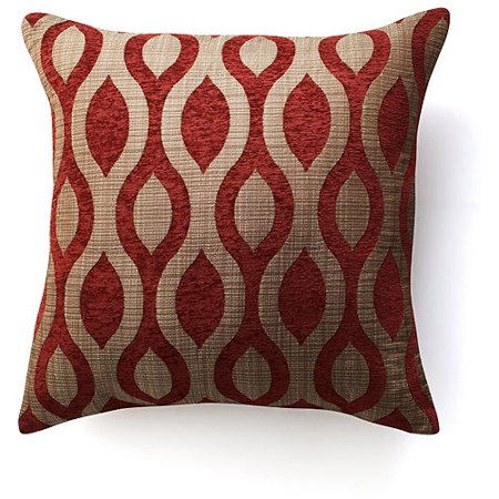Decorative Pillow Trends 2015 : Home Trends Home Trend Finite Red - Walmart.com