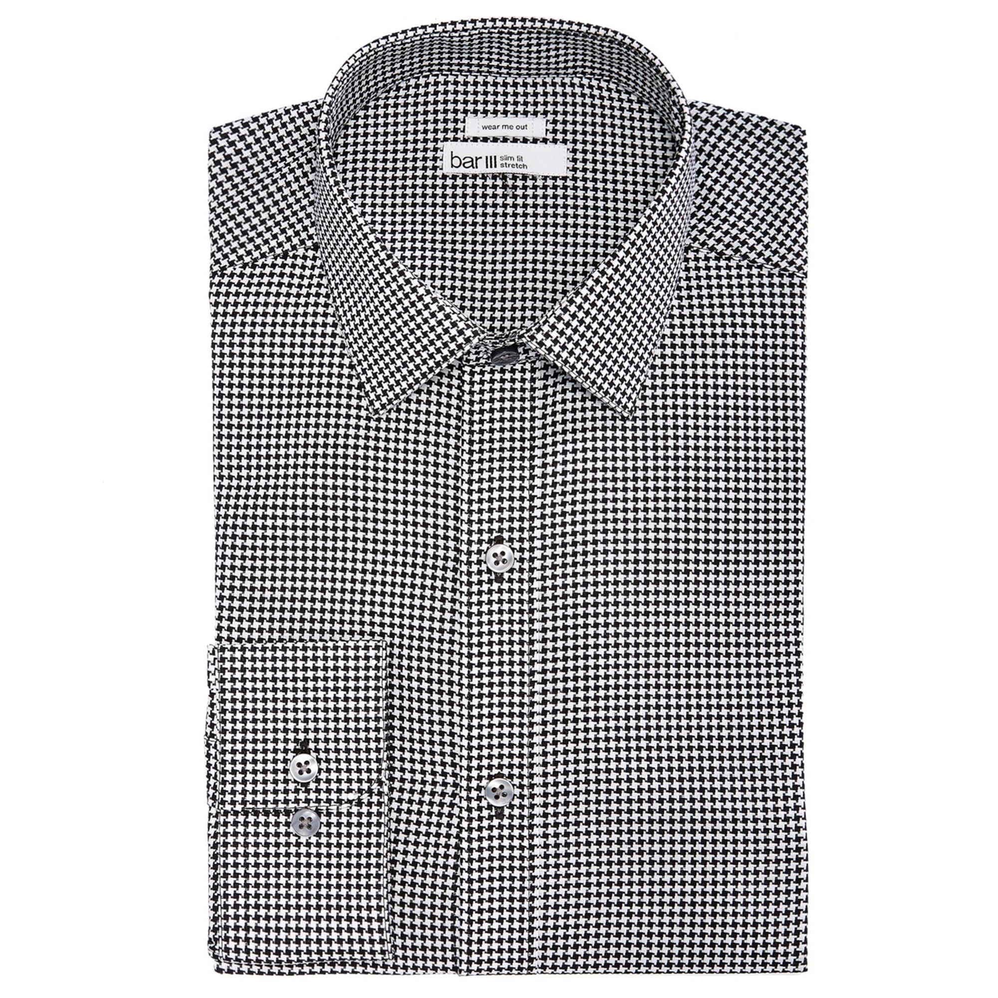 Bar III Mens Slim-Fit Stretch Max White Solid Dress Shirt
