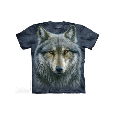 The Mountain Warrior Wolf Adult T-Shirt Tee (Warrior International T-shirt)