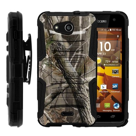 Kyocera Hydro Wave Case | Kyocera C6740 Case [ Clip Armor ] Rugged Case with Built in Kicsktand and Holster - Nature