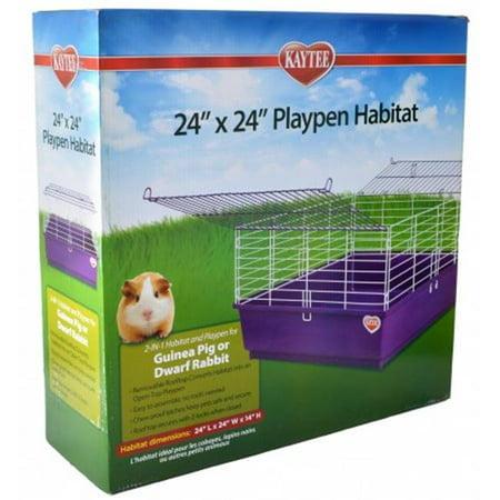 Safety 1st Playard - Super Pet-Kaytee My First Home Playpen Habitat- Purple 24x24 In