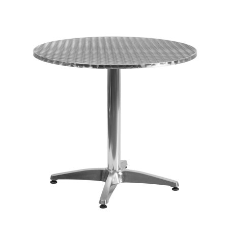 31.5'' Round Aluminum Indoor-Outdoor Table with