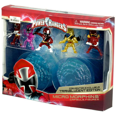 Power Rangers Micro Morphin Capsule Figures Translucent Edition Figure 5-Pack
