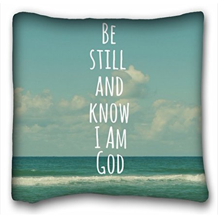 WinHome Bible Verse Gifts With Beautiful Beach Pillow Inspirational Quote Pillow Cover Square Throw Pillow Case Cover Size 18x18 inches Two Side Print