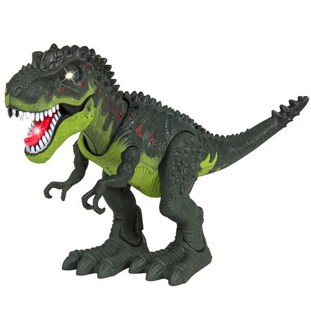 Kids Toy Walking T-Rex Dinosaur Toy Figure With Lights & Sounds, Real