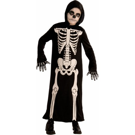 Child Boys Halloween Skeleton Grim Reaper Robe Costume