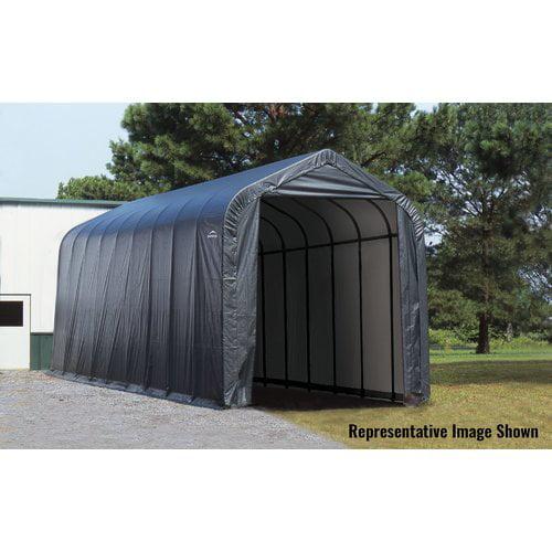 16' x 44' x 16' Peak Style Shelter, Gray by ShelterLogic