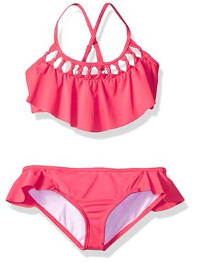 07bd78c8094ba Product Image Billabong Big Girls' Macrame Madness Two Piece Swimsuit Set,  Passion Fruit, ...