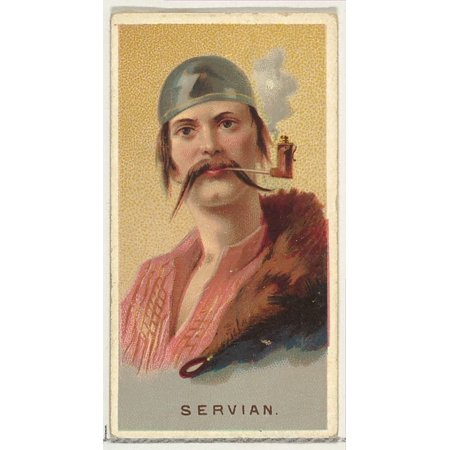 Serbian from Worlds Smokers series (N33) for Allen & Ginter Cigarettes Poster Print (18 x