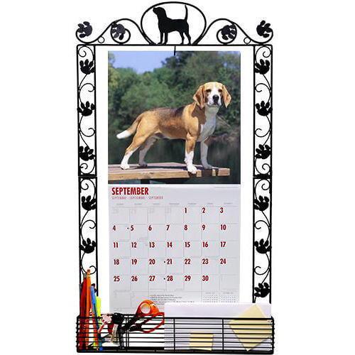 Beagle Metal Calendar Frame, Assorted Organization by DogBreedStore.com